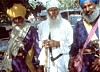 Traditional Sikh Religious Leaders with thier traditional weapons in Delhi India